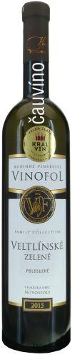Veltlínské zelené Vinofol 2015 Family Collection výběr z hroznů 0,75l polosuché 1568