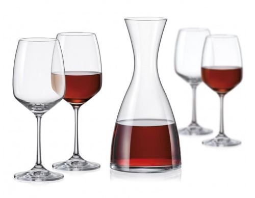 Karafa dekantační 1,200 ml + 4 skleničky