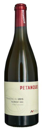 Rulandské bílé Nové vinařství 2015 výběr z hroznů Petanque 0,75l polosladké NV 189