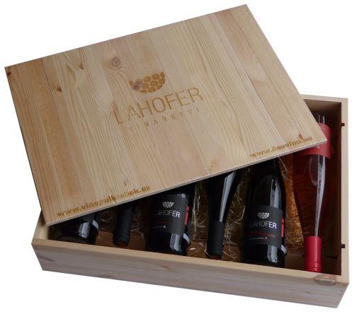Dárková bedna s vínem 6 vín Vinařství Lahofer