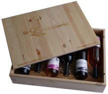 Dárková bedna s vínem 6 vín Víno z Litomyšle