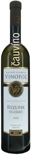 Ryzlink vlašský Vinofol 2015 Family Collection pozdní sběr 0,75l suché 1546