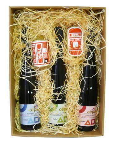 Dárková krabice s vínem a pochutinami 3