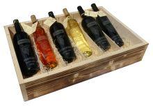 Bedna 6 vín pískované láhve týden Vinařství Hruška