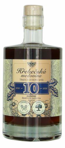 Medovina 10 - letá archivní 0,5 l Hřebečská