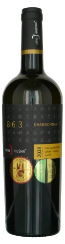 Chardonnay Barrique Víno Hruška Velehrad 863 2018 výběr z hroznů 0,75l suché 14318