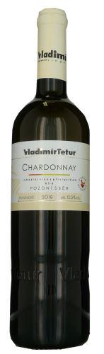 Chardonnay Tetur 2018 pozdní sběr 0,75l polosuché 806