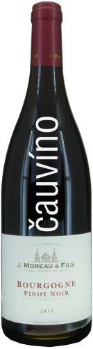 Pinot Noir J.Moreau Fils 2015 Francie 0,75l suché