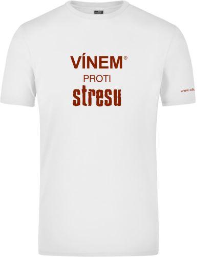 Tričko pánské VÍNEM PROTI STRESU kulatý výstřih velikost L