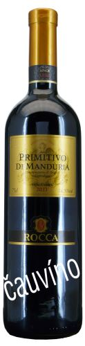 Primitivo Di Manduria Angello Rocca 2016 DOC Vendemmia Itálie 0,75 lsuché