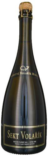Sekt Volařík Cuvée Chardonnay a Rulandské bílé 2014  0,75l extra brut 1409