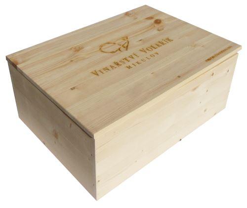 Bedna na 12 vín Vinařství Volařík s logem