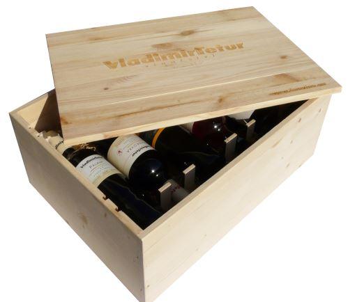 Dárková bedna s vínem 12 vín Vinařství Tetur