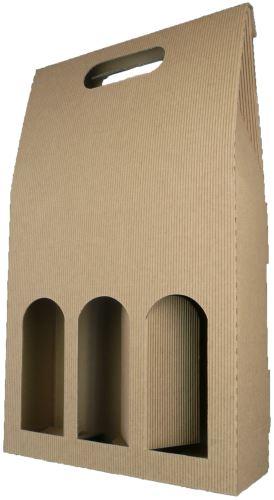 Krabička přírodní na 3 lahvičky D. 3.4.