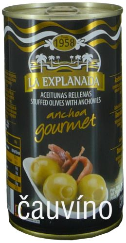 Zelené olivy s ančovičkou 350g La Explanada