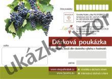 Dárková poukázka, šek na nákup vín 7.000,- Kč