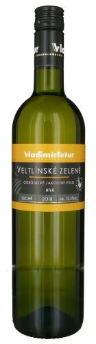 Veltlínské zelené Tetur 2018 jakostní 0,75l suché 816