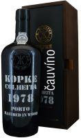 40 let staré portské víno 1978 Kopke Colheita 0,75 l v dřevěné krabičce