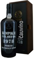 40 let staré portské víno 1979 Kopke Colheita 0,75 l v dřevěné krabičce