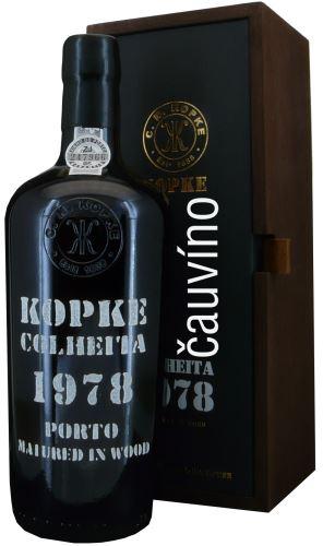 42 let staré portské víno 1979 Kopke Colheita 0,75 l v dřevěné krabičce