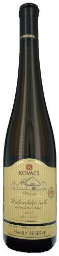 Oranžové víno Rulandské šedé Kovacs výběr z hroznů 2017 suché 36 17