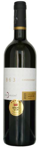Chardonnay Víno Hruška Velehrad 863 2019 pozdní sběr 0,75l suché 14019