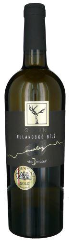 Rulandské bílé  Víno Hruška 2018 výběr z hroznů 0,75l polosuché 144 18 Old vine