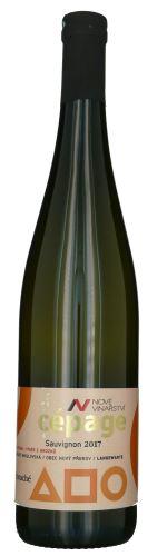 Sauvignon Nové Vinařství 2017 výběr z hroznů Cepagé 0,75l polosuché NV 260