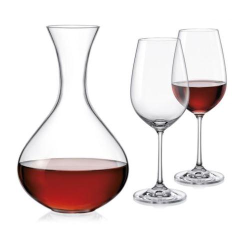 Karafa dekantační 1,500 ml + 2 skleničky Sandra