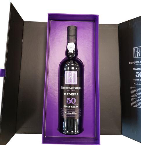 50 let staré víno Madeira H H Tinta Neagra 0,5l