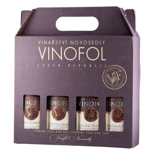 Dárkové balení vín Vinofol 4 x 0,187l suché