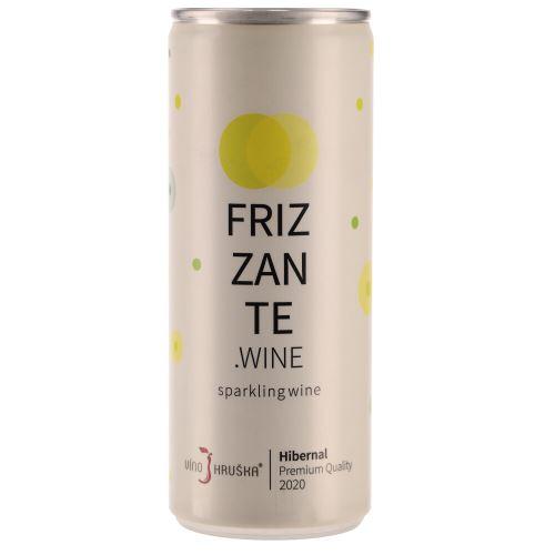Víno v plechovce Frizzante Hibernal Hruška 2020 250ml suché